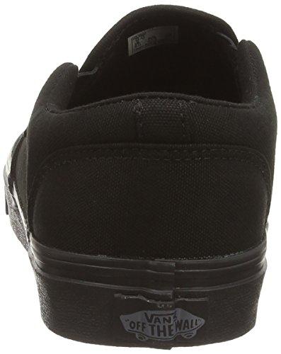 Vans Asher - Scarpe da Ginnastica Basse Uomo, Nero (Canvas Black Black), 48 EU Nero (canvas Black Black)