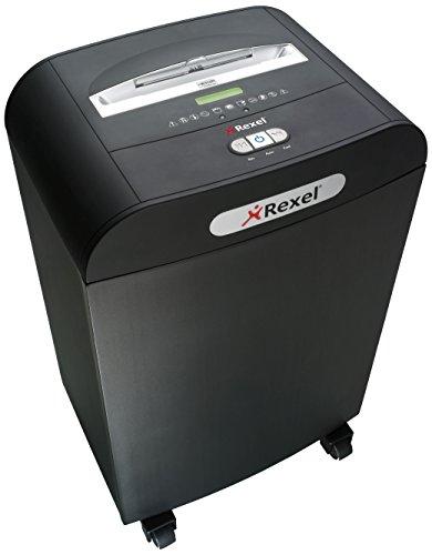 Rexel Mercury RDM1150 Aktenvernichter 2102425EU (für den Einsatz in bteilungen, Mikroschnitt, Manueller Einzug, 50L Abfallbehälter, 11 Blatt Kapazität) schwarz