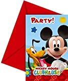 amscan Pack 6 Invitaciones, Mickey Mouse, Papel, Unica, 6 Unidades