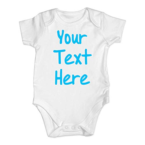YanHoo Baby Body für Jungen Mädchen, Neugeborenes Baby Slip Strampler Kurzarm Overall Kleidung (0-24M) Babybuchstabe Your Text Robe ()