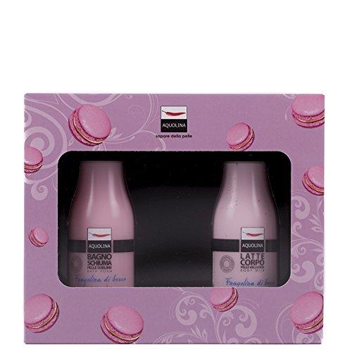 Aquolina kit cofanetto bagno schiuma + latte corpo macaron fragoliina di bosco regalo set gift box