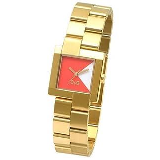 D&G DW0441 – Reloj de Señora movimiento de cuarzo con brazalete metálico dorado