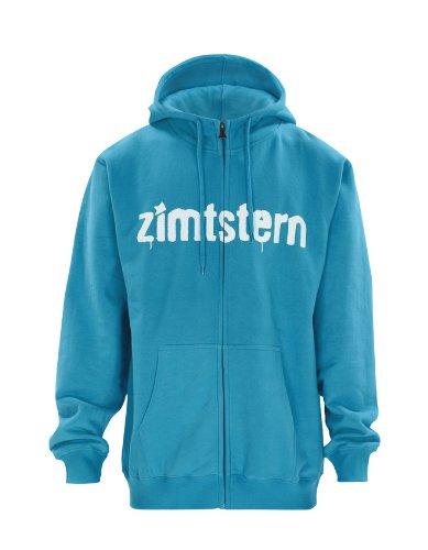 Zimtstern Herren Zip Hoody ZHM_Spray_Logo, Blue, XL, 2311551002306 Dc Zip-hoody