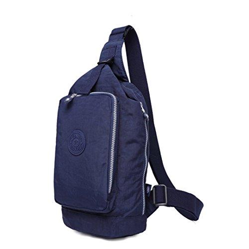 jothin Los Hombres al aire libre di nylon della borsa di spalla di sport all' aria aperta dei escursione borsa del Messenger Los Hombres De 17.5x 32x 11cm (L * H * W), rosso, 17.5X32X11cm (L * H *  blu