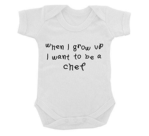 t To Be A Chef Design Baby Body Weiß mit Schwarz Print Gr. 6-12 Monate, weiß ()