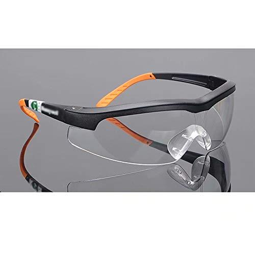 WEIFAN Schutzbrille, Männer und Frauen, die eine Arbeitsversicherung mit transparenten, winddichten Spritzbrillen (Anti-Fog/A) abschließen