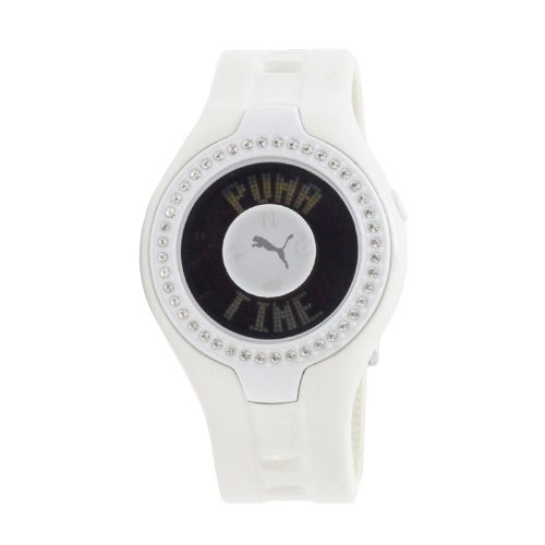 Puma - PU910222003 - Montre Femme - Quartz Digital - Cadran Blanc - Bracelet Caoutchouc Blanc