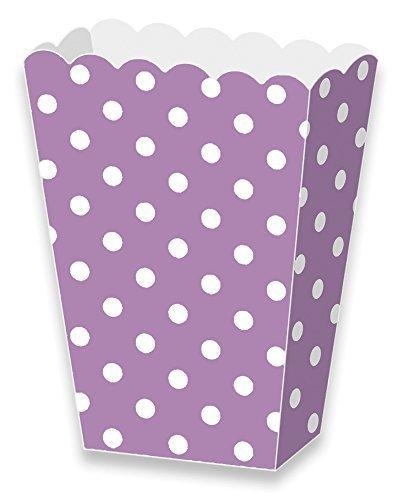LolliZ® palomitas caja de papel lavanda/lunares. 12-pcs Pack