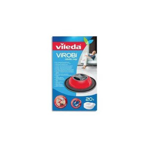 VILEDA Box mit 20 Tüchern, Baumwolle, für Roboter Virobi weiß