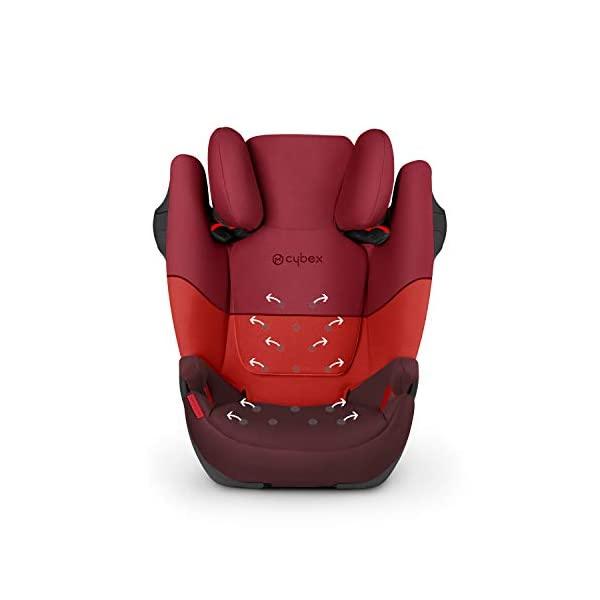 CYBEX Silver Solution M-Fix Child's Car Seat, For Cars with and without ISOFIX, Group 2/3 (15-36 kg), From approx. 3 to approx. 12 years, Pure Black Cybex Sturdy and high-quality child car seat with long service life - For children aged approx. 3 to approx. 12 years (15-36 kg), Suitable for cars with and without ISOFIX Maximum safety - Built-in side impact protection (L.S.P. System), 3-way adjustable headrest, Energy-absorbing shell 12-way adjustable, comfortable headrest, Adjustable backrest, Extra wide and deep seat cushion 4