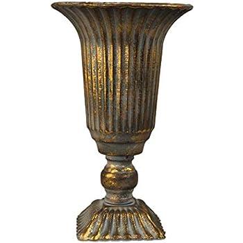 Exner Pokal Amphore Art Ferro Vase Metallvase Gold Messing
