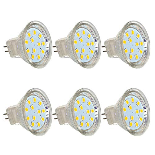 2.2 W Led (6er MR11/GU4 LED Reflektor Reflektorlampe, 2,2W LED Lampe ersetzt 20W Glühlampen, GreenSun LED Lighting 12V DC LED Spot Birne 180lm Warmweiß 110 ° Abstrahlwinkel)