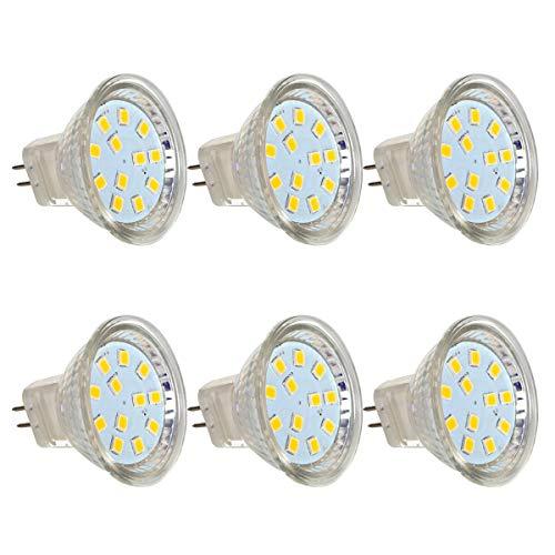 Preisvergleich Produktbild 6er MR11/GU4 LED Reflektor Reflektorlampe, 2,2W LED Lampe ersetzt 20W Glühlampen, GreenSun LED Lighting 12V DC LED Spot Birne 180lm Warmweiß 110 ° Abstrahlwinkel
