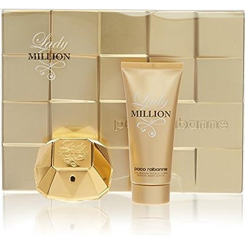Paco Rabanne P0904019 Lady Million Agua de Perfume + Loción Corporal - 1 Pack