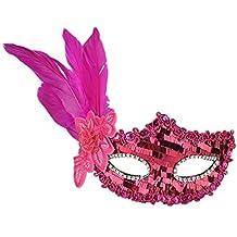 STRIR Máscara de Lentejuelas de plumas para Mujeres Antifaz de Carnaval Halloween Disfraces Juguetes para pareja
