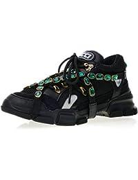 Gucci Flashtrek Trainers with Chain Strap Core Black Uomo Donna Scarpa 8d22b16604de