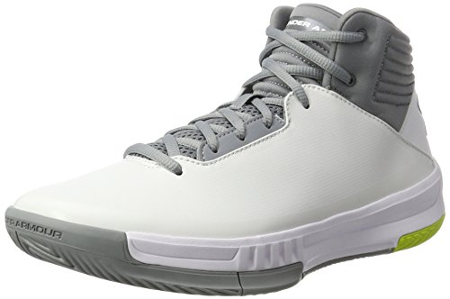 Under Armour UA Lockdown 2, Chaussures de Basketball Homme, Blanc (White 100) 46 EU