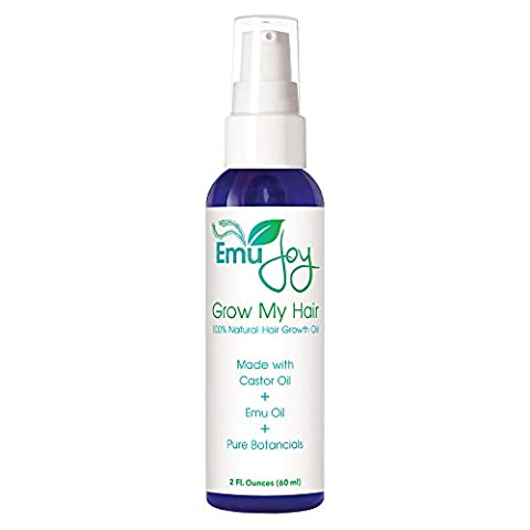 Grow My Hair Natural Hair Growth Oil with Castor Oil, Emu Oil and Botanicals