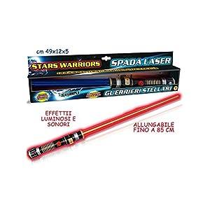 Teorema- Stars Warriors Giocattolo Spada Laser con Luci e Suoni, Multicolore, VD64118 4 spesavip