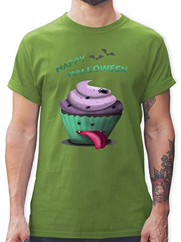 Halloween - Halloween Treats - S - Hellgrün - L190 - Herren T-Shirt und Männer Tshirt (Lustige Gummibärchen Kostüm)