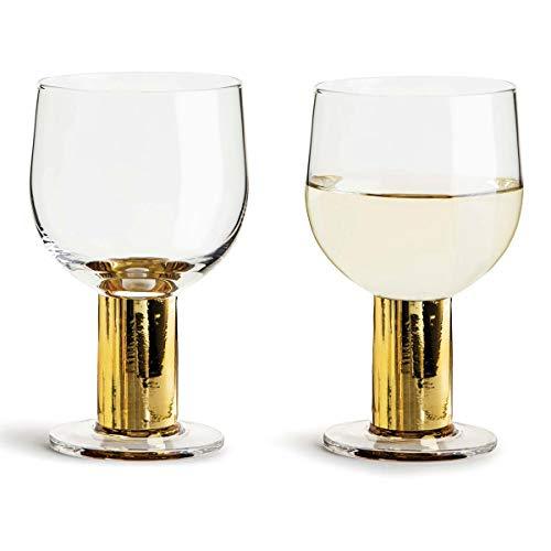 Sagaform Die perfekte Präsentation Weinglas Gold 2er Set 22cl H135mm