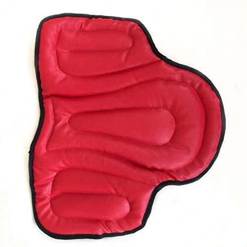 Westernsattelkissen, Stoßdämpfender Sitz Sattelkissen Pad Leder Konturierte Sattelkissen Memory Foam Material50 * 40 * 1.5cm,Red -