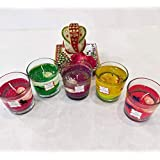Unicorn Decor Gel Colourful Decorative Candles (Set Of 5 Candles)