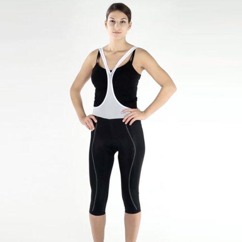 Eigo Spin Classic Damen 3/4Bib Short mit Bewegungsfreiheit 3Stunden Pad 40 schwarz - schwarz