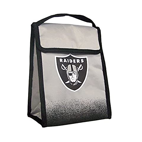Forever Collectibles Gradient Velcro Lunch Bag, Oakland Raiders, One Size