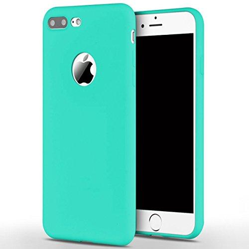 Cover iPhone 7 Plus (5.5),ToDo iPhone 7 Plus Custodia Silicone Ultra Morbido Satinate Opaco Ultra Sottile TPU Flessibile Gomma Cassa Protettiva Gel [Anti-scivolo] [Anti-Graffio] [Antiurto] Leggero Ce Menta verde