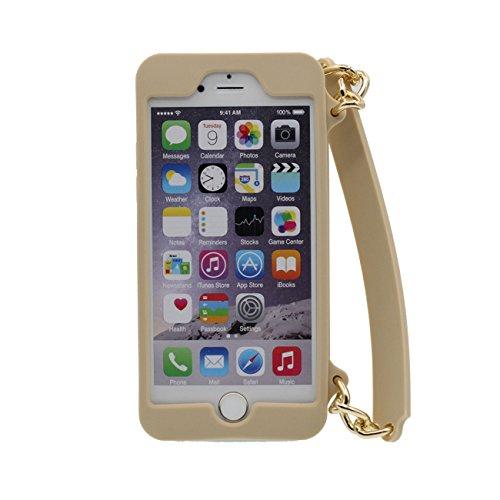 iPhone 6S Plus Coque Sac à main Forme Serie Doux Silicone Plastique Housse de Protection Case pour Apple iPhone 6 Plus 6S Plus 5.5 inch ( Rose ) or