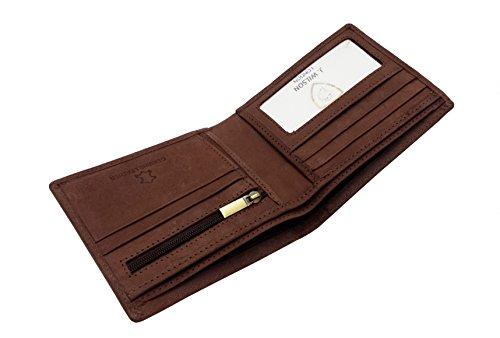 7963c68b6829 RFID BLOCKING Protection Distressed Brown Genuine Leather J Wilson ...