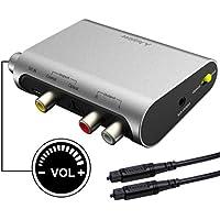 Avantree DAC02 DAC DA Wandler Digital Analog Wandler Audio Konverter, SPDIF Toslink Adapter mit Optisch Kabel, Volume Control,TV Optisch Koaxial Input, Kopfhörer Lautsprecher 3.5mm AUX RCA L/R Output