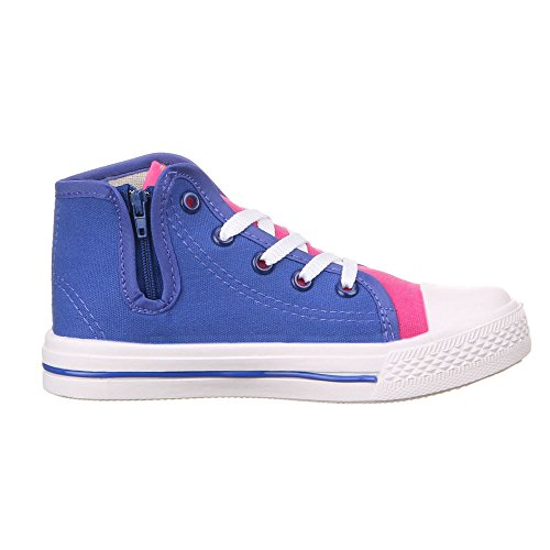Kinder Schuhe für Jungen und Mädchen, 921, FREIZEITSCHUHE Blau (25-30)