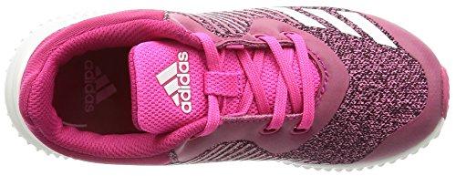 adidas Fortarun K, Chaussures de Running Compétition mixte enfant rose vif/blanc/rose flash