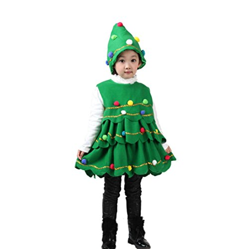 ☻Huhu833 Weihnachten Kleinkind Baby Mädchen Weihnachten Kostüm Cosplay -