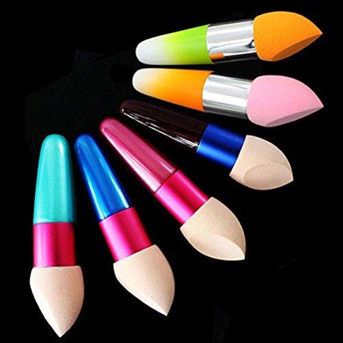 Beauty Éponge douce à maquillage en forme de rond Poudre Puff (couleur aléatoire)