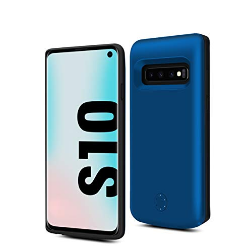 Happon Samsung Galaxy S10 6000mAh Batteria Case Slim Custodia Antiurto Antiscivolo Smart Charger Case Power Bank Custodia Batteria Pack Cover per Samsung Galaxy S10 (Blue)