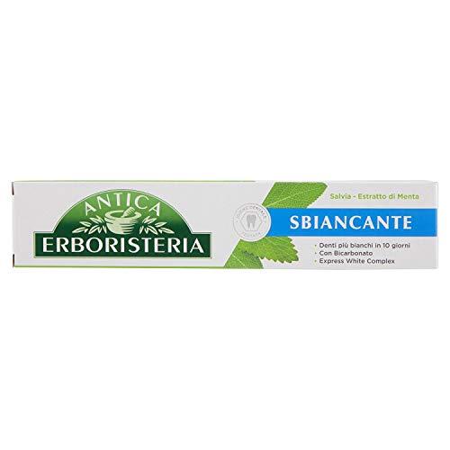12 x dentifricio antica erboristeria sbiancante salvia estratto di menta 75ml