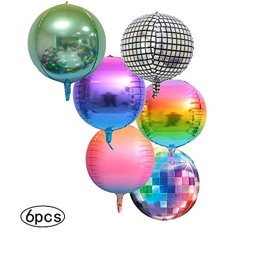 6 x Jumbo Foil Balloons with a 70s Disco Theme