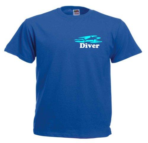 Diver T532 Unisex T-Shirt Textilfarbe: blau