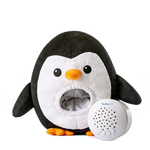 Bubzi Co Baby Spielzeug Einschlafhilfe und Weißes Rauschen Lautsprecher - Pinguin-Kuscheltier - Nachtlicht mit Sternenhimmel Projektor - Babyspielzeug mit Schlafliedern - Bestes Babyparty Geschenk - weißes, und, Sternenhimmel, Spielzeug, Schlafliedern, Rauschen, Projektor, PinguinKuscheltier, Nachtlicht, mit, Lautsprecher, Geschenk, einschlafhilfen, einschlafhilfe, Bubzi, Bestes, Babyspielzeug, Babyparty, Baby