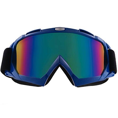 sijueam® Winter Motorrad Ski Snowboard Brillen über Gläser Military Tactical CS Shooting Eyewear UV-Schutz kratzfest Anti Nebel Outdoor Ausreit Radfahren Motorrad Ausrüstung Mehrfarbig Blue-tinted Lens