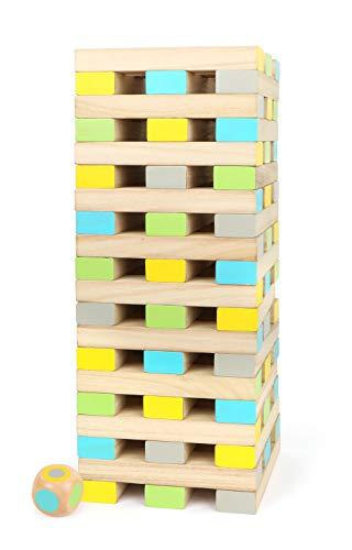 small Foot 12027 Wackelturm XXL Active aus FSC 100%-zertifiziertem Holz für Erwachsene und Kinder ab 3 Jahren, Outdoor-Spiel Spielzeug, Mehrfarbig - Kinder Outdoor-spiele
