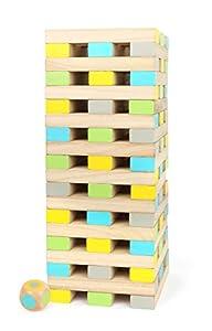 Small Foot 12027 Wackelturm XXL Active - Torre de Madera para Adultos y niños a Partir de 3 años (Certificado FSC