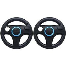 Expresstech @ Controlador Volante Racing Wheel 2PCs para Nintendo Wii WII-U Wii U Joy-Con Rueda Controles Gamepad controlador Mario Kart