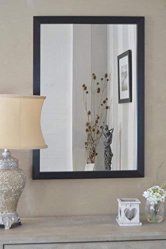 MirrorOutlet Espejo de Pared Contemporáneo con Marco de Color Negro Grande de 2Ft9 X 1Ft11