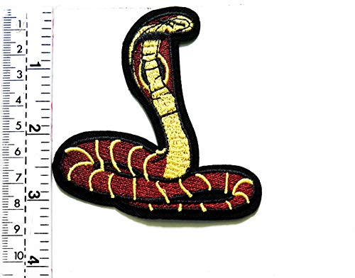 Snake Stretch Neck Scary Animal Cartoon Kinder Patch Weste/Jacke/Biker Patch Motorrad Rider Biker Tattoo Jacke T-Shirt Aufnäher Aufbügler Aufbügler Stretch Animal