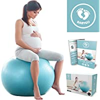 Birthing Ball Pregnancy Maternity & Labour Ball With Free Trimester Specific Exercise Guide Weight Loss Anti-burst Technology 65cm 75cm