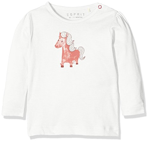 Esprit Kids Baby-Mädchen T-Shirt, Weiß (Off White 110), One size (Herstellergröße: 86)